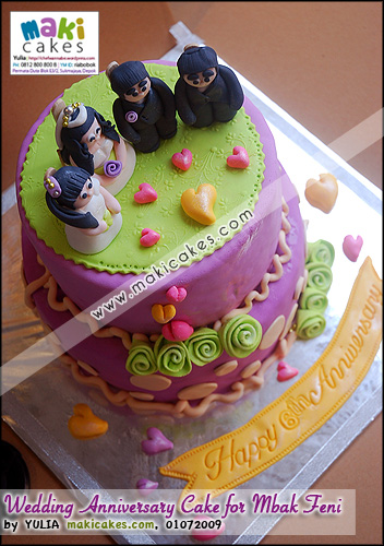 Wedding Anniversary Cake for Mbak Feni__ - Maki Cakes