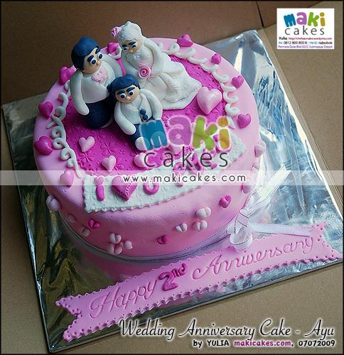 Wedding Anniversary Cake_Ayu - Maki Cakes