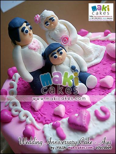 Wedding Anniversary Cake_Ayu_ - Maki Cakes