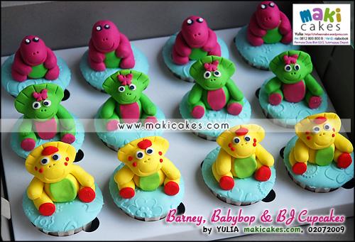 Barney BJ & Babybop Cupcakes - Maki Cakes