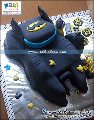 Batman & Batmobile Cake - Maki Cakes