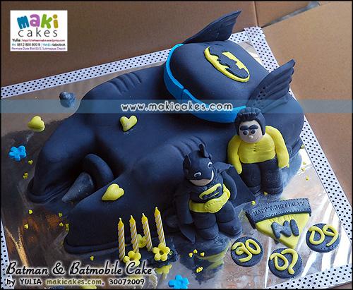 Batman & Batmobile Cake_ - Maki Cakes
