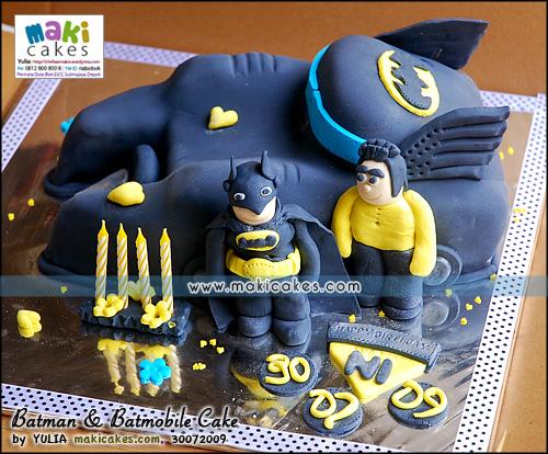 Batman & Batmobile Cake__ - Maki Cakes