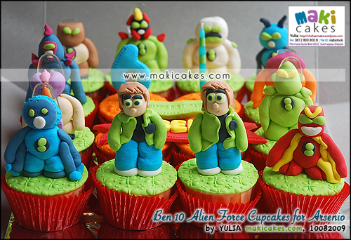 Ben 10 Alien Force Cupcakes for Arsenio - Maki Cakes