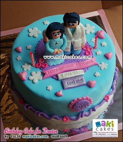 Birthday Cake for Doctor - Maki Cakes