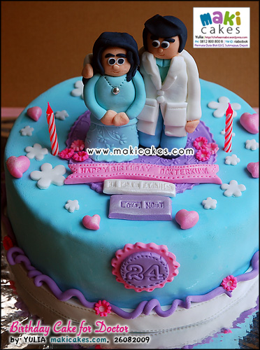 Birthday Cake for Doctor_ - Maki Cakes