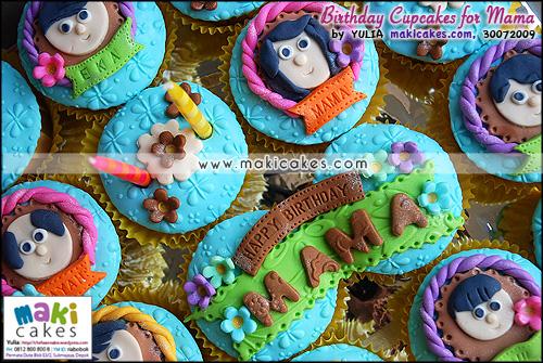 Birthday Cupcakes for Mama - Maki Cakes