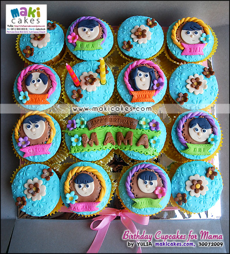 Birthday Cupcakes for Mama__ - Maki Cakes