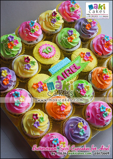 Buttercream Swirl Cupcakes for Airel - Maki Cakes