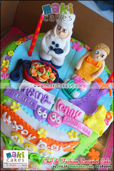 Chef & Fashion Designer Cake - Maki Cakes