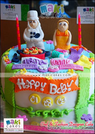 Chef & Fashion Designer Cake_ - Maki Cakes