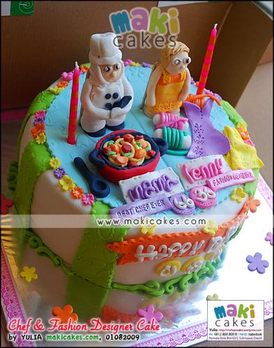 Chef & Fashion Designer Cake__ - Maki Cakes