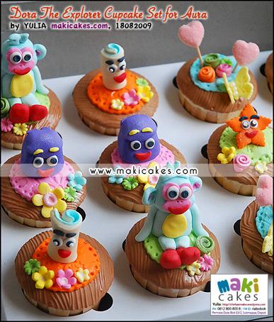 Dora The Explorer Cupcake Set for Aura_ - Maki Cakes