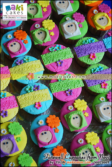Farewell Cupcakes from Novi - Maki Cakes