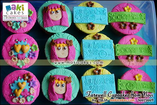 Farewell Cupcakes from Novi_ - Maki Cakes