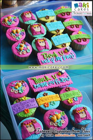 Farewell Cupcakes from Novi__ - Maki Cakes
