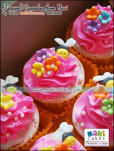 Farewell Cupcakes from Novi___ - Maki Cakes