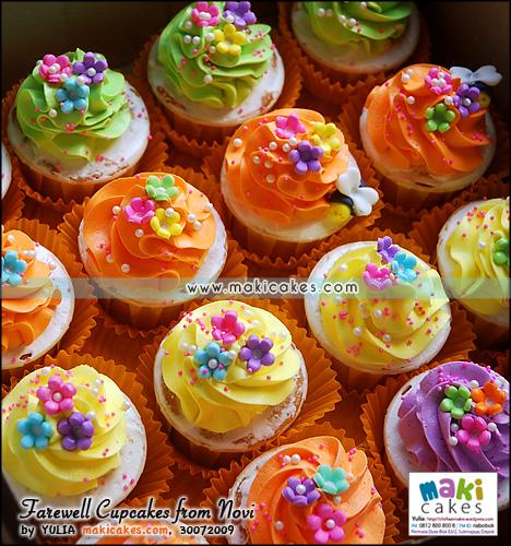 Farewell Cupcakes from Novi____ - Maki Cakes