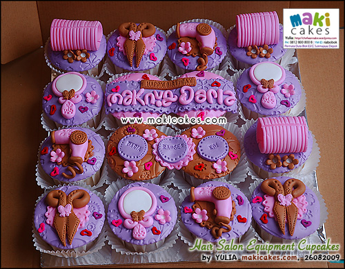 Hair Salon Equipment Cupcakes_ - Maki Cakes