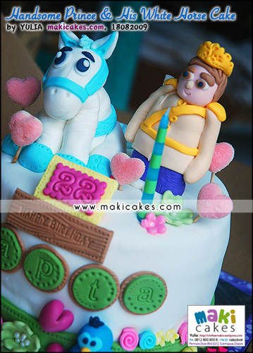 Handsome Prince & His White Horse Cake_ - Maki Cakes