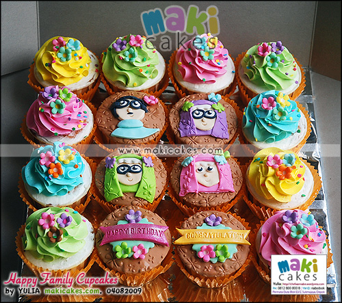 Happy Family Cupcakes - Maki Cakes