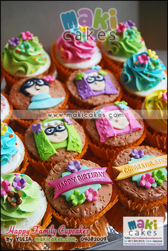 Happy Family Cupcakes_ - Maki Cakes