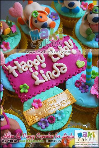 Horse & Puppy Cupcakes for Linda - Maki Cakes