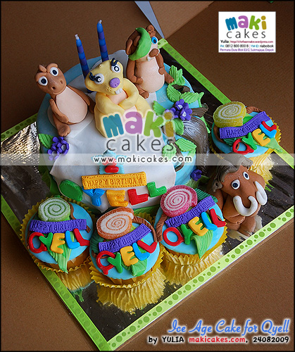 Ice Age Cake for Qyell_ - Maki Cakes