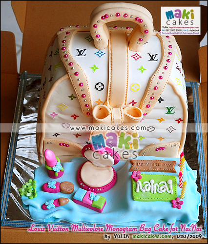 Louis Vuitton Multicolore Bag Cake for Nainai - Maki Cakes