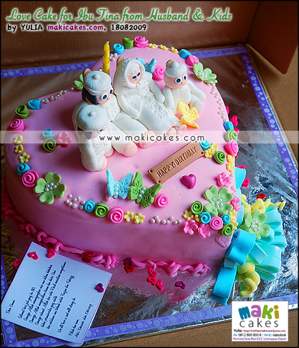 Love Cake for Ibu Tina fr Husband & Kids - Maki Cakes