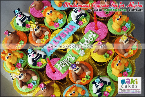 Madagascar Cupcake Set for Allysha - Maki Cakes
