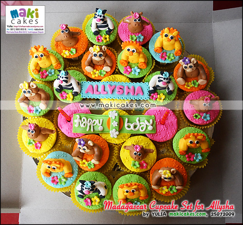 Madagascar Cupcake Set for Allysha_ - Maki Cakes