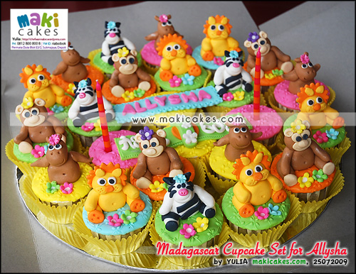 Madagascar Cupcake Set for Allysha__ - Maki Cakes