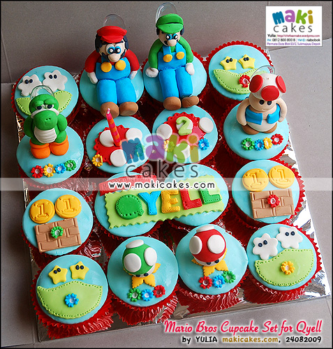 Mario Bros Cupcake Set for Qyell - Maki Cakes