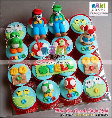 Mario Bros Cupcake Set for Qyell - Maki Cakes