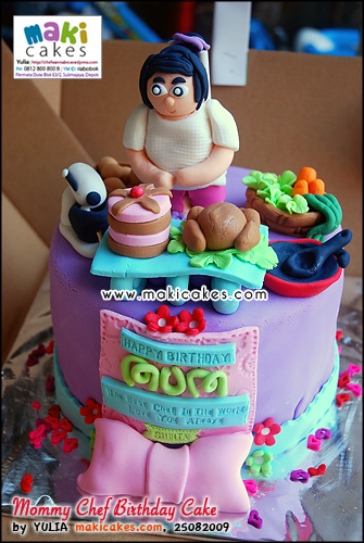 Mommy Chef Birthday Cake - Maki Cakes