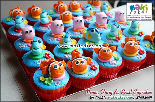 Nemo Dory & Pearl Cupcakes - Maki Cakes