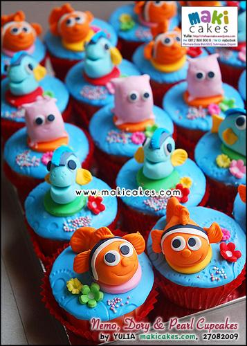 Nemo Dory & Pearl Cupcakes_ - Maki Cakes