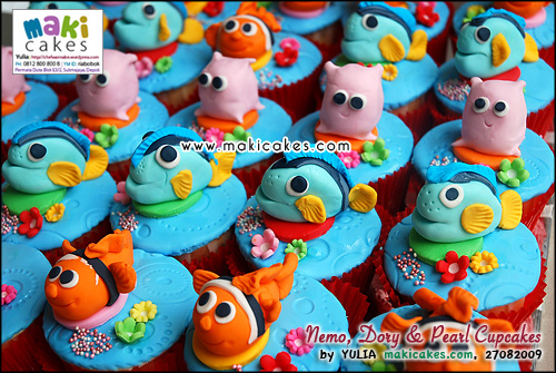 Nemo Dory & Pearl Cupcakes__ - Maki Cakes