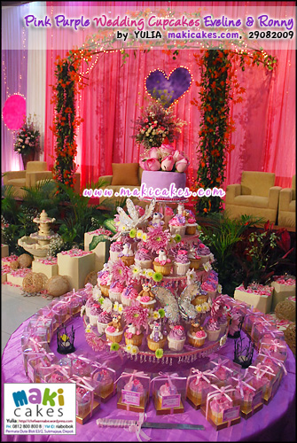 Pink Purple Wedding Cupcakes for Eveline & Ronny - Maki Cakes
