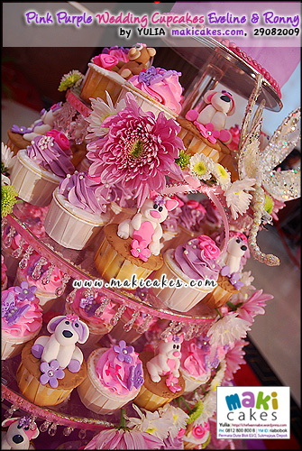 Pink Purple Wedding Cupcakes for Eveline & Ronny__ - Maki Cakes