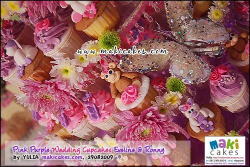 Pink Purple Wedding Cupcakes for Eveline & Ronny___ - Maki Cakes