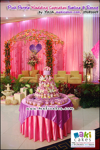 Pink Purple Wedding Cupcakes for Eveline & Ronny____ - Maki Cakes