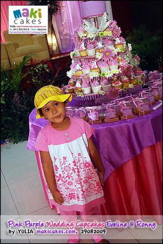 Pink Purple Wedding Cupcakes for Eveline & Ronny_______ - Maki Cakes