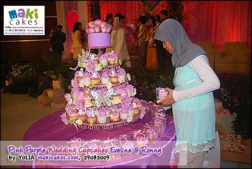 Pink Purple Wedding Cupcakes for Eveline & Ronny_________ - Maki Cakes