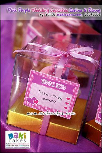 Pink Purple Wedding Cupcakes for Eveline & Ronny_mingle - Maki Cakes