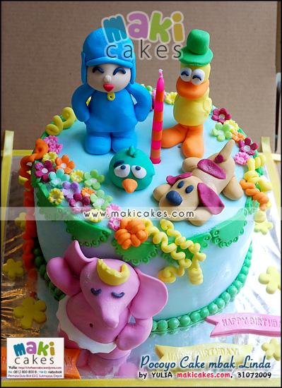 Pocoyo Cake mbak Linda - Maki Cakes