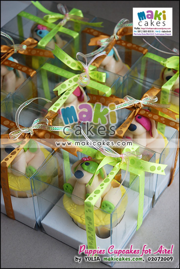 Puppies Cupcakes for Airel - Maki Cakes