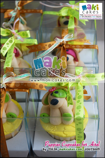 Puppies Cupcakes for Airel_ - Maki Cakes