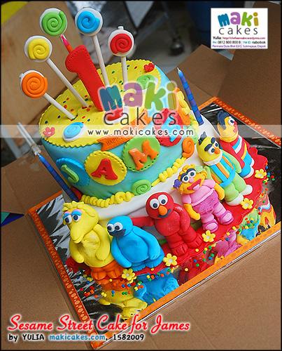 Sesame Street Cake for James - Maki Cakes